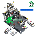 Super Large Police Station Building Kazi Blocks Compatible with lego Bricks Car Motorcycle Educational Toys City Building Toys