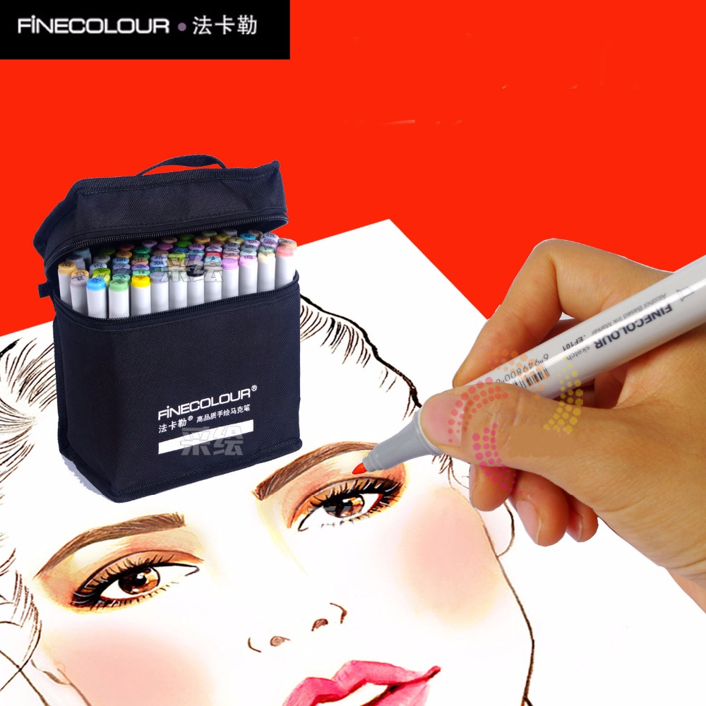 FINECOLOUR 72 Alcohol Based Marker Double Head Brush Art Sketch Marker Student Painting Sketch Drawing Marker Pen student attitude towards web based learning resources