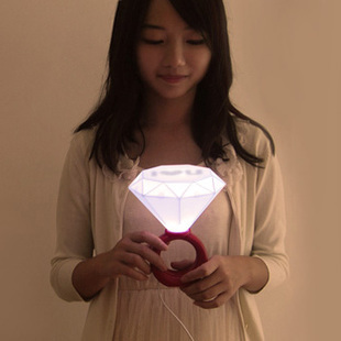 free shipping Lamp i romantic lovers small night light table lamp gift