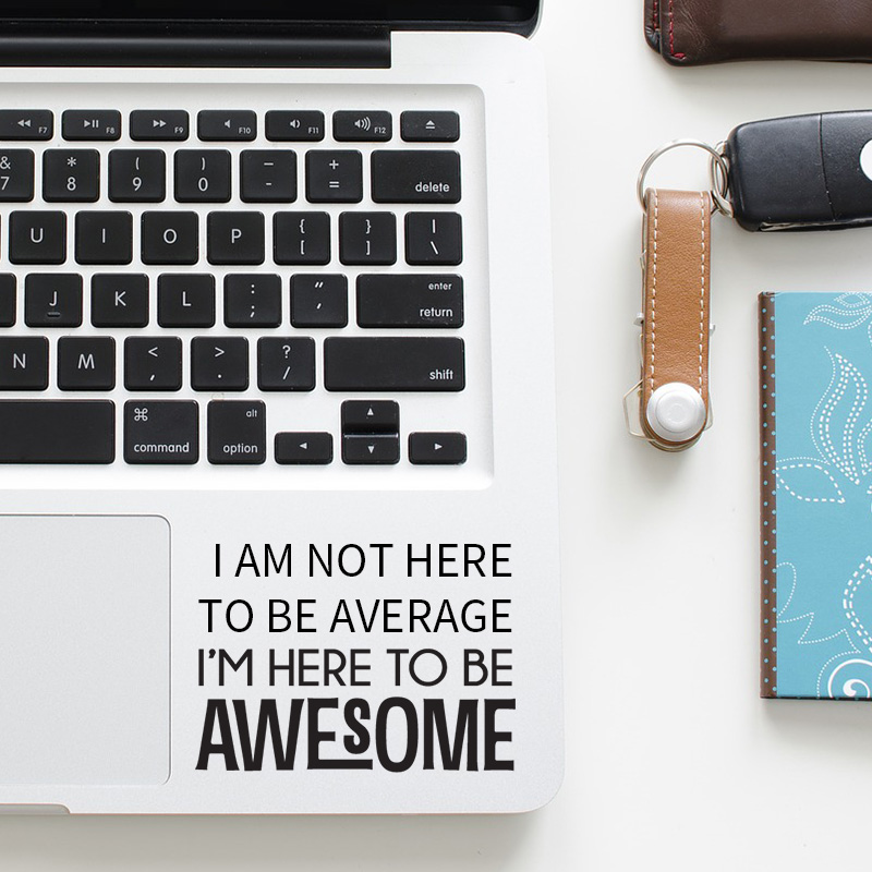 Self motivation Quote Trackpad Decal Laptop Sticker for font b Apple b font font b Macbook