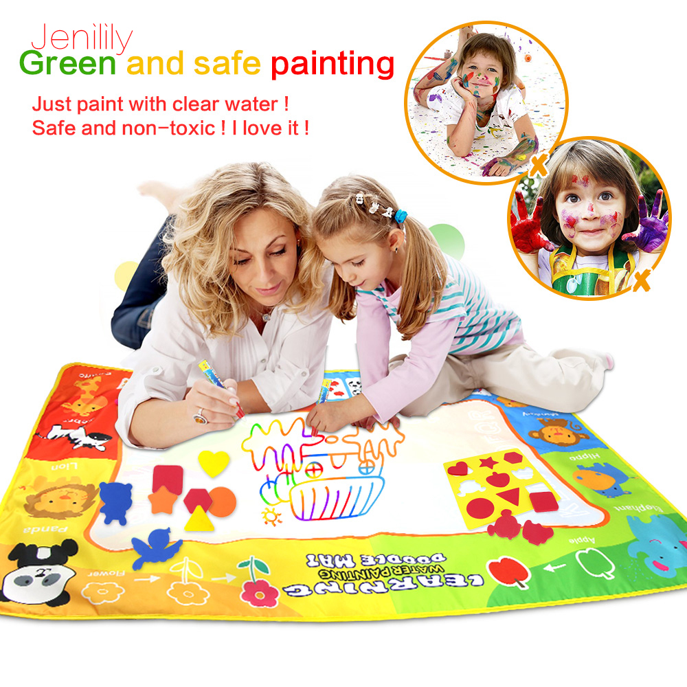 120*90cm Big Size Drawing Toys Water Drawing Mat Painting And Writing Doodle With Magic Pen Non-toxic Drawing Board For Kids