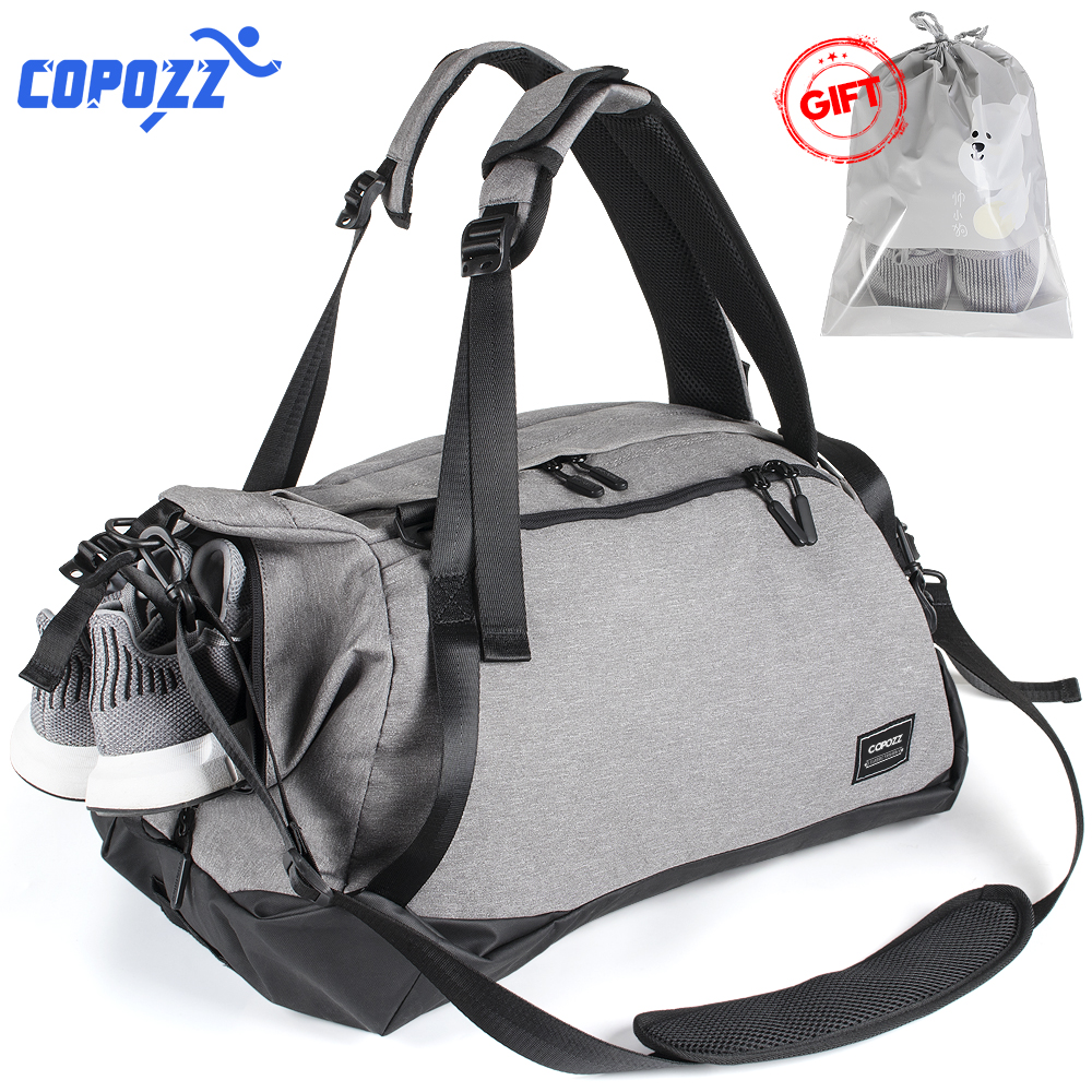 COPOZZ Waterproof Gym Bags Sport Men Women for Shoes Storage Fitness Yoga Mat Training Bag Single Shoulder Handbag Crossbody Tas