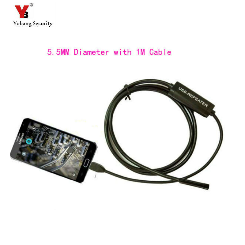 Yobang Security 5.5MM MINI Camera USB Laptop Android PC Car Endoscope 6LED Waterproof Inspection TubeInspection Wire CMOS Camera 7mm lens mini usb android endoscope camera waterproof snake tube 2m inspection micro usb borescope android phone endoskop camera
