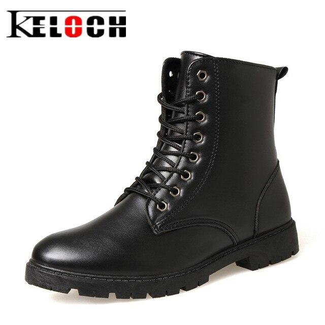 4034242d6b63d Keloch PU Botines de Cuero Botas de Los Hombres de Dos Tipos de Estilo  Adecuado Para