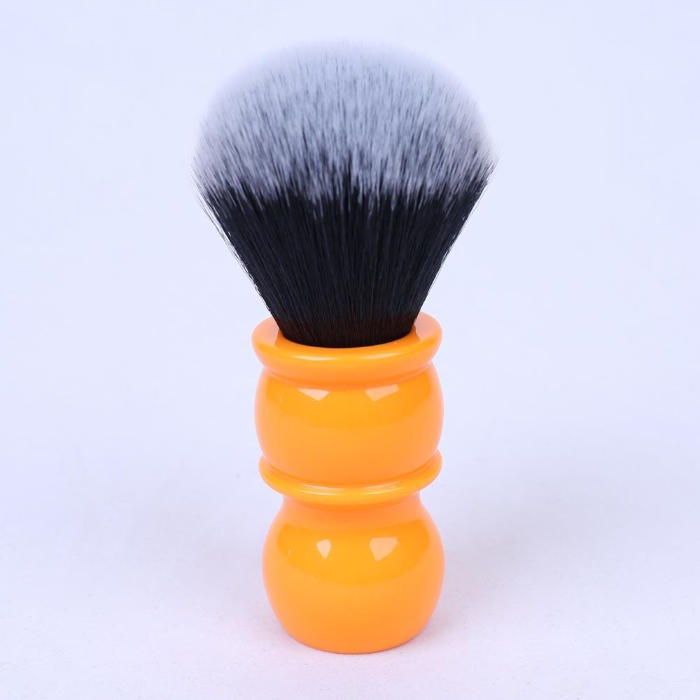 24mm Soft Synthetic Hair Good Tuxedo Knot Orange Handle Shaving Brushes