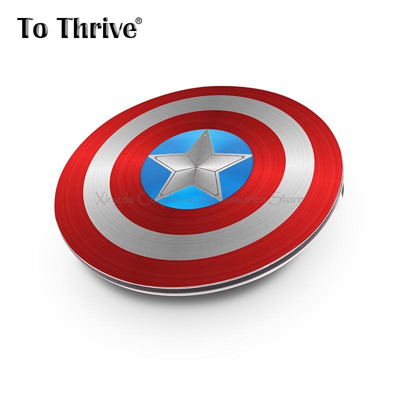 imágenes para Vengadores Capitán América Shield Real 4000 mAh Banco de Potencia Portátil para Todo el Teléfono Móvil