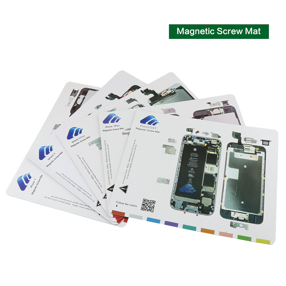 Professional Guide Pad for iPhone 8 8plus 7 Plus 6s 6 5s 5 Magnetic Screw Keeper Chart <font><b>Mat</b></font> Mobile <font><b>Phone</b></font> <font><b>Repair</b></font> Tools