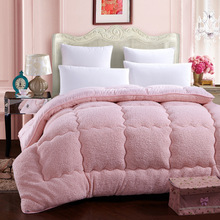 Quilts cotton patchwork duvets Australian lambs wool Warm comforter camel quilt Thicken warm duvets winter comforter queen king