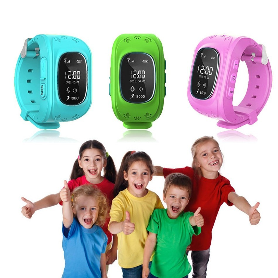 Smartch Q50 Kinder Smart uhr mit Integriertem Mikrofon GPS £ Sos-ruf Erinnerung Micro SIM Karte Einstellbar Armband Für Kinder