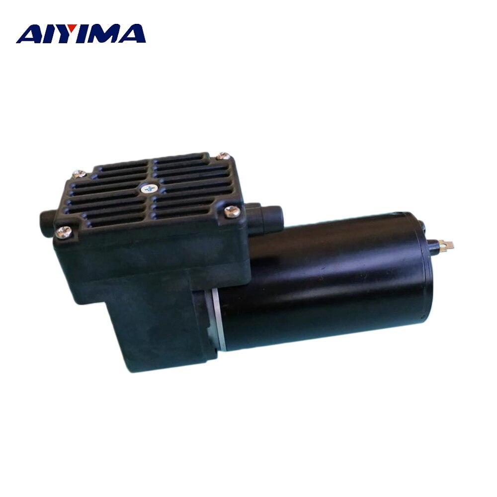 Aiyima Micro pompe à vide-80kpa DC12V 24 V automatique faible puissance d'aspiration brosse Piston pompe à Air résistant à la corrosion