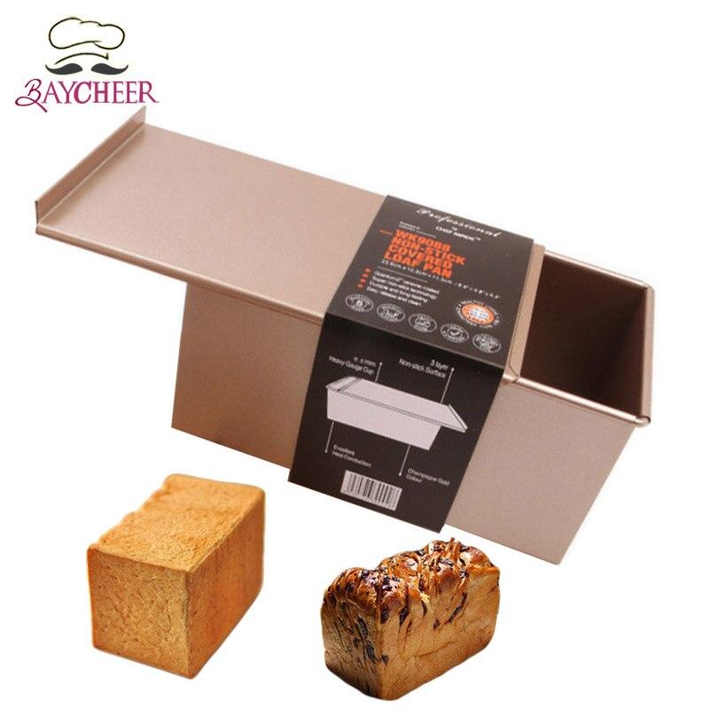 Bayjoy avec couvercle Rectangle boîte grand pain grillé moule pour la cuisson gâteau pâtisserie décoration outils enfants anniversaire