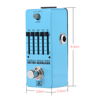 AROMA AEG 5 5 Band Graphic EQ Equalizer Guitar Effect Pedal Aluminum Alloy Body True Bypass Guitar Parts & Accessories