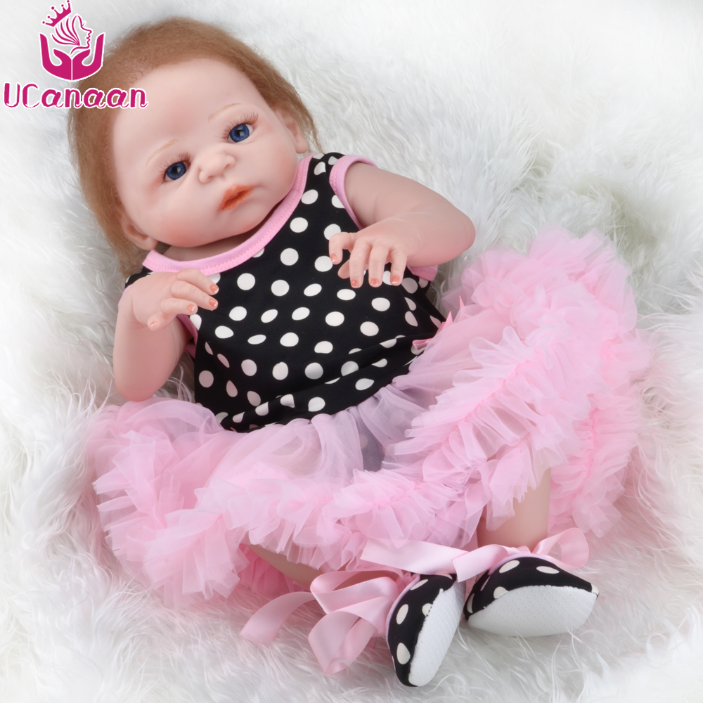 22 full silicone vinyl body reborn dolls baby reborn girl soft body best children sleeping boy gift toys brinquedos bonecas 50-55CM Silicone Reborn Baby Dolls Soft Full Vinyl Body Lifelike Baby Doll Toys for Children Bebe Alive Bonecas Best Gift