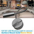 12 V DC LEVOU Luz de Leitura Flexível Conversa Interior luz Reboque de Campista Caravana/RV/Bedide Lâmpada de Parede Fria Branco quente