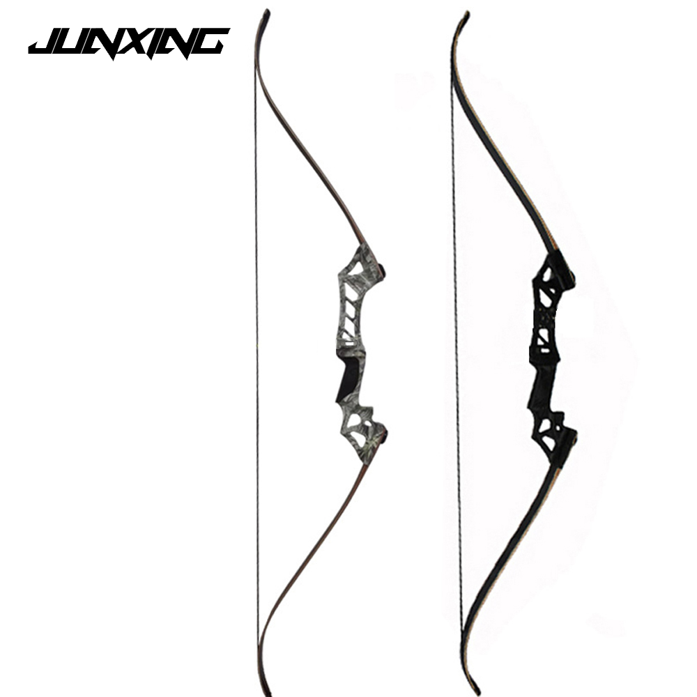 2 Color 60 Inches Black/Camo 30-70 Lbs Recurve Bow for Right Hand Archery Bow Shooting Hunting Outing Sport Games Practice 3 color 30 50lbs recurve bow 56 american hunting bow archery with 17 inches metal riser tranditional long bow hunting