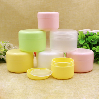 50PCS Refillable Bottles Travel Face Cream Lotion Cosmetic Container Plastic Empty Makeup Jar Pot 5 Colors 10/20/50/100g 8pcs set travel bottles mini makeup cosmetic face cream plastic transparent empty make up container bottle travel accessories