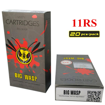 BIGWASP Disposable Gray Cartridge Needle 11 Round Shaders (11RS) Tattoo Needle 20Pcs/Box Supply For Tattoo Machine