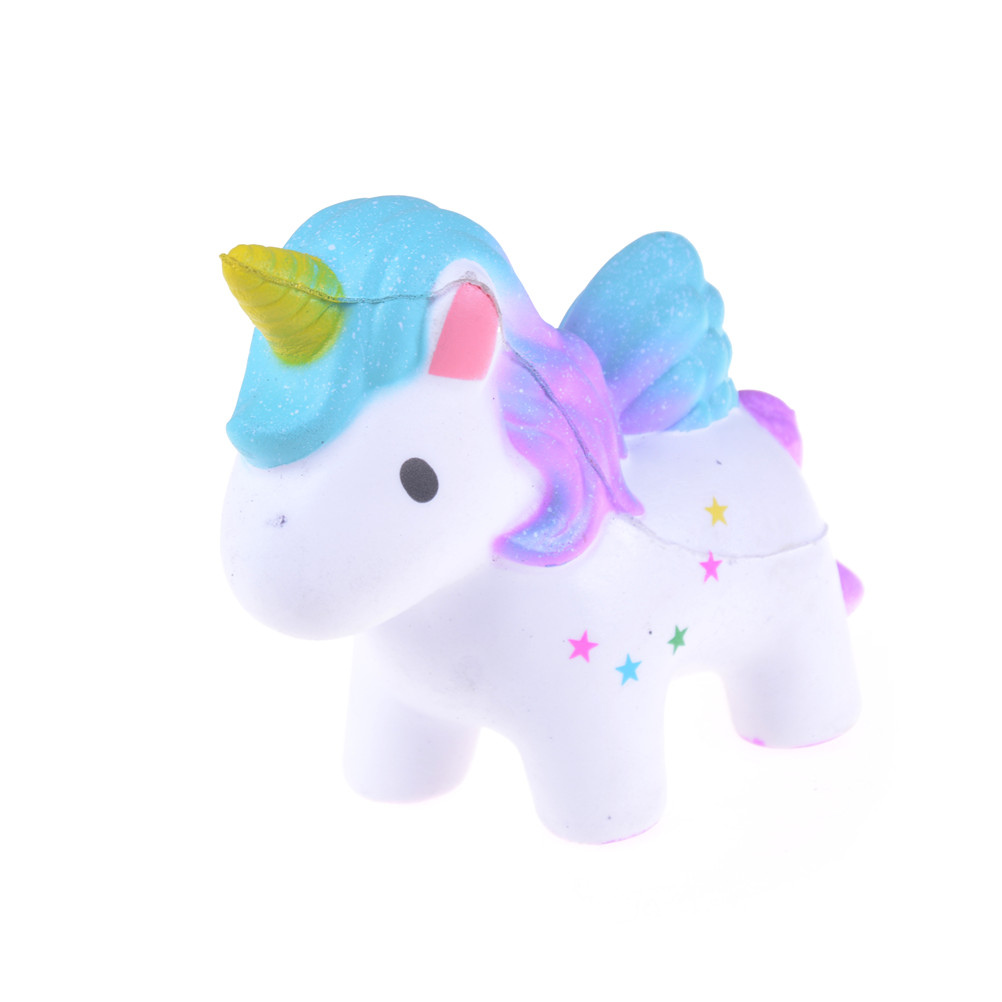 Gags & Practical Jokes Toys & Hobbies Mini Soft New Lovely Rainbow Horse Dreamlike Unicorn Anti Stress Squishy Scented Squishy Slow Rising Squeeze Toys