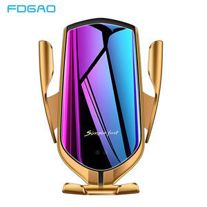 FDGAO Clamping-Mount Car-Charger Qi Automatic iPhone 11 Wireless Fast-Charging-Phone-Holder