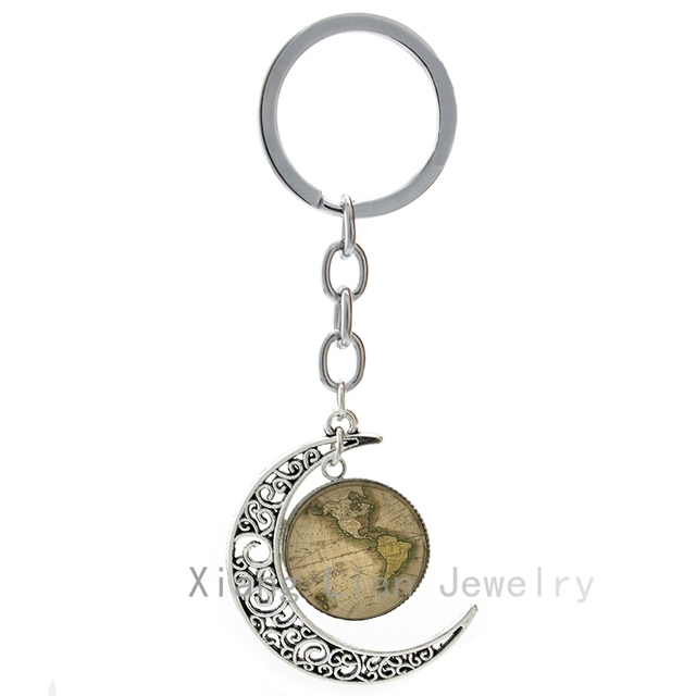 World map keyring vintage north and south amera map keychain world map keyring vintage north and south amera map keychain mothers gift intercontinental maps key chain gumiabroncs Image collections