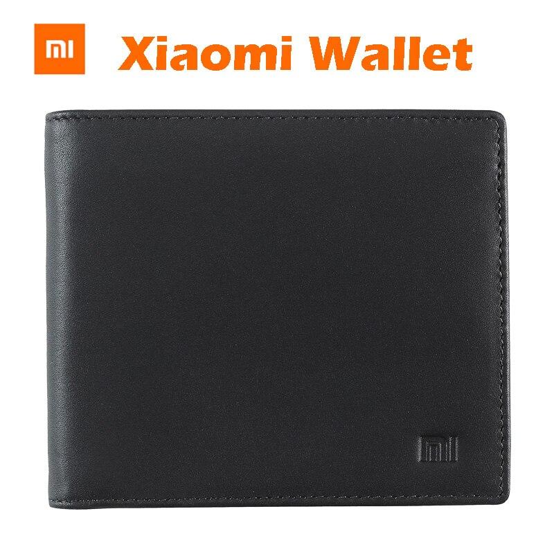 imágenes para Original XiaoMi Billetera llena Griand Placa de Cuero Monedero Hombre Mujer Elegante Cartera de Cuero Tarjeta de Bolsillo de Embrague Monedero Bifold de Cente Money