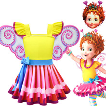 2019 new beautiful fancy Nancy cos girls dress rainbow ballet princess cosplay costume