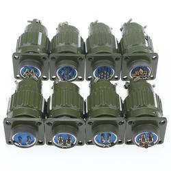 1 zestaw 21mm Y2M YP21 2/3/4/5/7/10/14/16 Pin wtyczka lotnicza gniazdo lotnicze złącze kablowe silnik krokowy lotnictwa złącze wtykowe w Złącza od Lampy i oświetlenie na