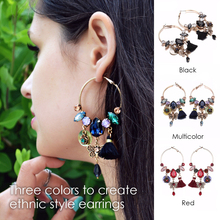 eManco Wholesale Ethnic Bohemia Tassel Charms Hanging Dangle Earrings 3 Colors Seashells Crystal Accessories Ear Brand Jewelry