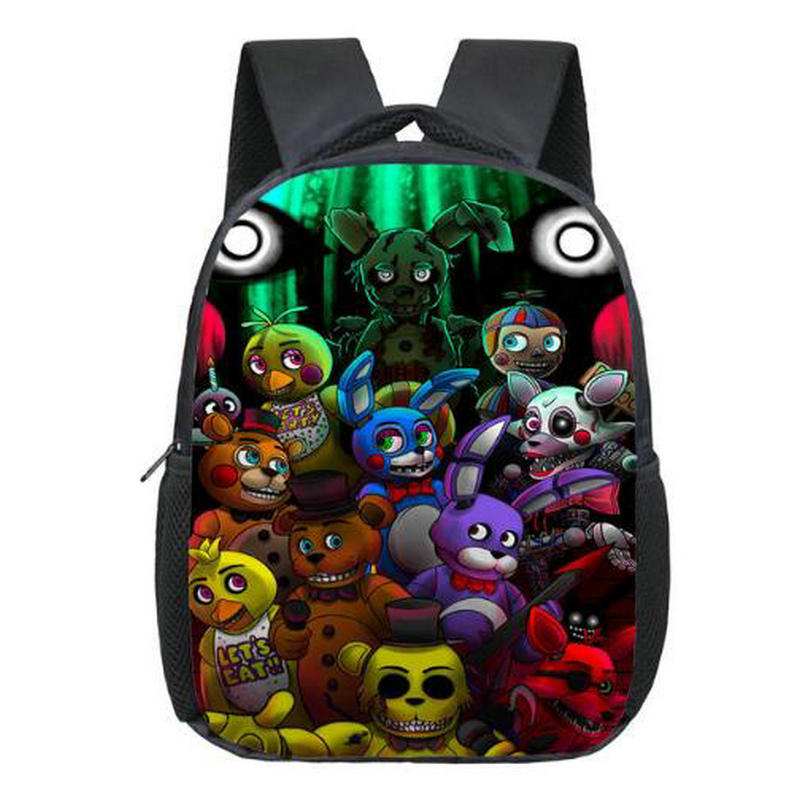 12 inch Kids Five Nights At Freddys Backpacks Anime Fnaf Backpack Boys Girls School Bags Children Book Bag Mini Daily Backpack anime noragami aragoto yato backpack for teenage girls boys cartoon yukine children school bags casul book bag travel backpacks