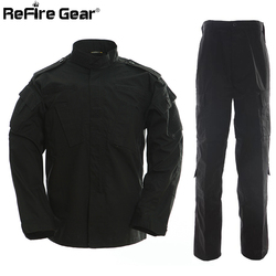 Tactical US RU Army Camouflage Combat Uniform Jacket Men BDU Multicam Military Uniform Clothing Set Airsoft Camo Jackets + Pants