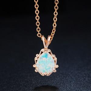 Image 2 - 2020 neue Liebe gott Amor paar Opal Halskette Großhandel Mode Schmuck 100% 925 silber Kristall von Swarovskis Frauen