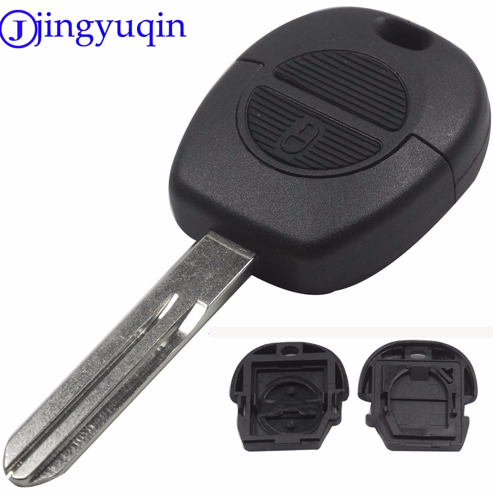 jingyuqin 2 Button Remote Flip Fob Car Key Shell For Nissan Micra Almera Primera X-Trail Replacement Uncut Blade Case Cover jingyuqin flip cnc uncut cut blade key shell for chevrolet cruze remote key case keyless fob 3 button include cutting blade