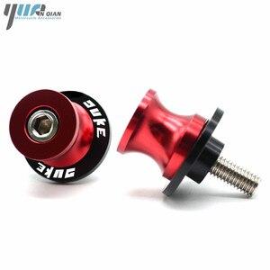 Image 3 - 8MM 10MM motocicleta Duke basculante de soporte deslizador de bobinas tornillos para KTM 990 SuperDuke 690 390 Duke/RC 390 200 Duke 690 Duke R