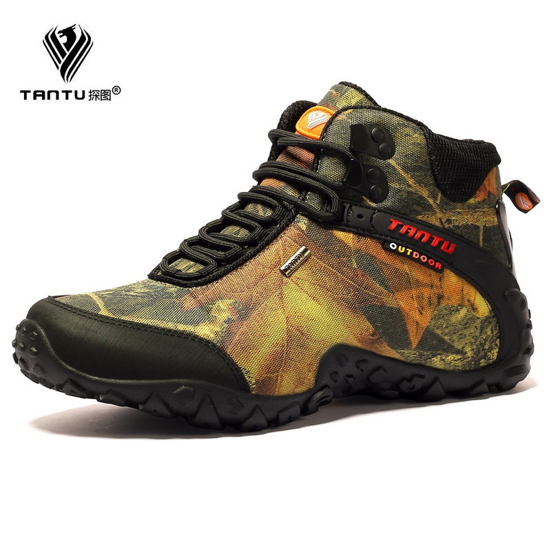 TANTU New Men Work Safety Boots Genuine Leather Men Boots Winter Autumn Super Quality Hiking Boots Soft Ankle Boots Man