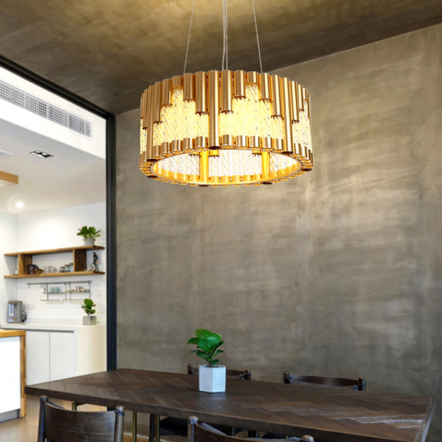 Nordic Lamps Restaurant Lights Iron pendant lamp Golden Creative Modern Minimalist Glass Dining Room Home Dining Light
