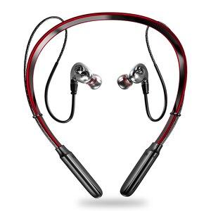 Image 1 - 最新のワイヤレスbluetooth V5.0イヤホン3Dステレオヘッドセットネックバンドスポーツットヘッドホンイヤホンイヤフォン低音in 耳のmicとすべて電話