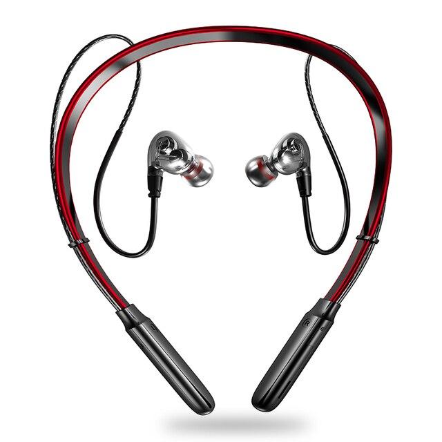 最新のワイヤレスbluetooth V5.0イヤホン3Dステレオヘッドセットネックバンドスポーツットヘッドホンイヤホンイヤフォン低音in 耳のmicとすべて電話