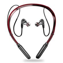 最新のワイヤレス bluetooth V5.0 イヤホン 3D ステレオヘッドセットネックバンドスポーツットヘッドホンイヤホンイヤフォン低音 in 耳の mic とすべて電話