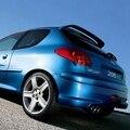 2009-2016 206 Plástico ABS Sin Pintar Primer Alerón Trasero de Techo para Peugeot 206