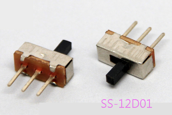 10PCS ON-OFF Micro Slide Switch Interruptor 1P2T 3Pin Toggle Switch Handle L=3mm 6 feet slide switch handle sk22d07 toggle switch 2 gear 4 mm