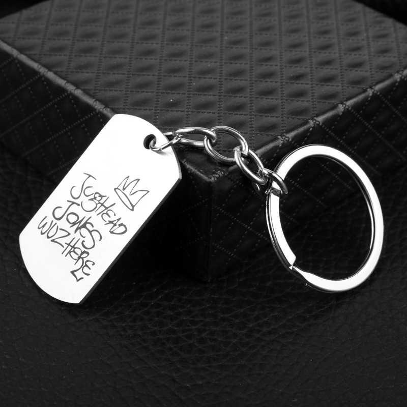 dongsheng TV Riverdale Keychain South side serpents Chock'lit Shoppe Jughead Jones Metal  Pendants Keyring Women Men Jewelry -50