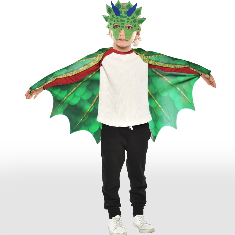 3-7 Y.O SPECIAL Dinosaur Wings Costume For Kids Party Scarf  World Book Day Halloween Costume For Boy Cosplay Dinosaur