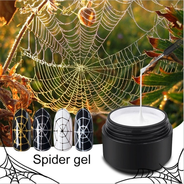 1 Pc 8ml Gel Nail Polish Art UV LED Professional Nail Paint UV Color Gel Lacquer Emboss Pulling Wire Spider Gels 2