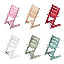 نوديتش تصميم بسيط خشبي الطفل كرسي أطفال ارتفاع قابل للتعديل 10-58 سنتيمتر خشب متين كراسي عالية للأطفال تغذية الطعام كرسي