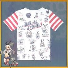 Japanese font b Anime b font Kantai Collection Cartoon t shirt Summer Short Sleeve Unisex Casual