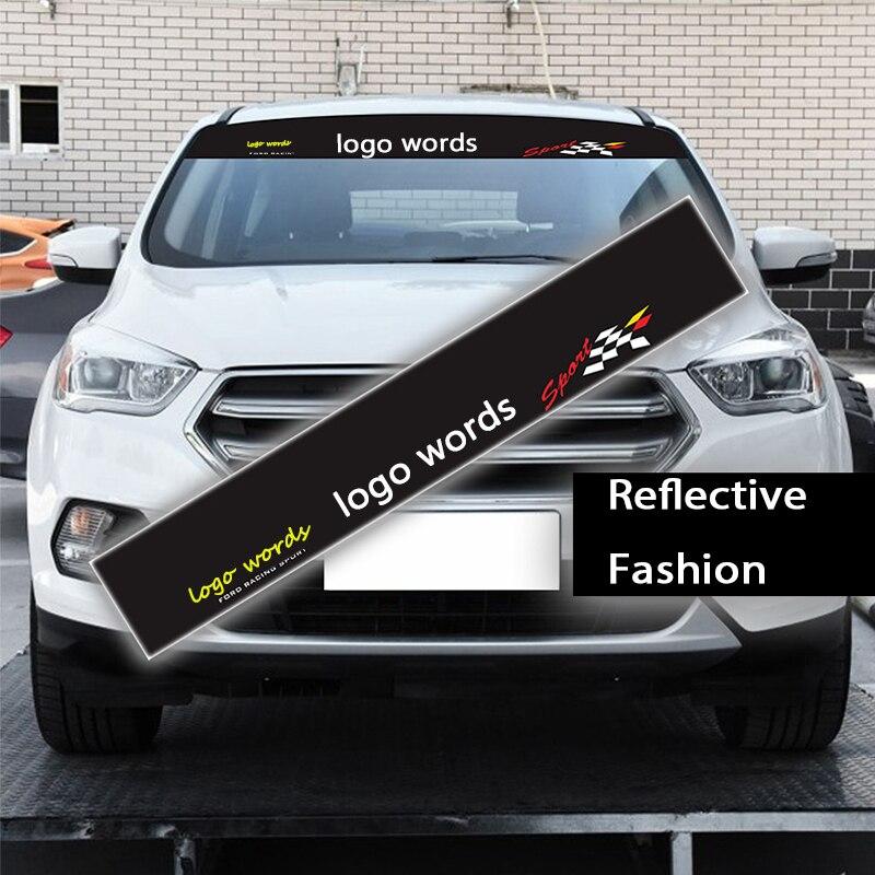 Atreus Auto Logo Frontscheibe Windschutzscheibe Aufkleber Reflektierende Fur Ford Focus 2 3 1 Fiesta Mondeo Kuba Ecosport Abdeckung Styling In