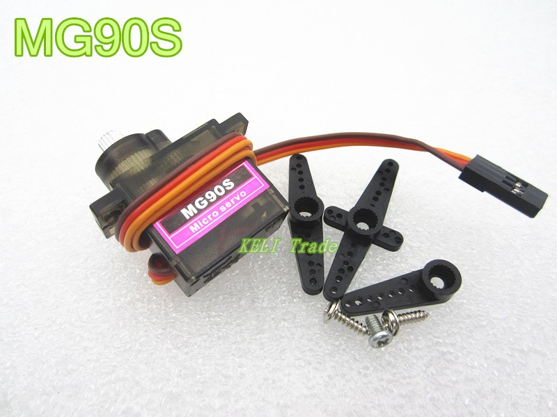 10sets MG90S Micro Metal Gear High Speed 9g Servo for RC Helicopter Plane Car Boat