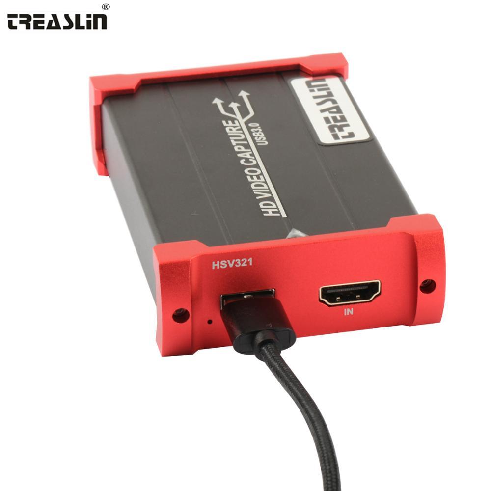TreasLin 1080 P 60FPS игры потокового игры Capture Card HDMI видео устройства захвата USB 3,0 игры Capture Регистраторы Live игры