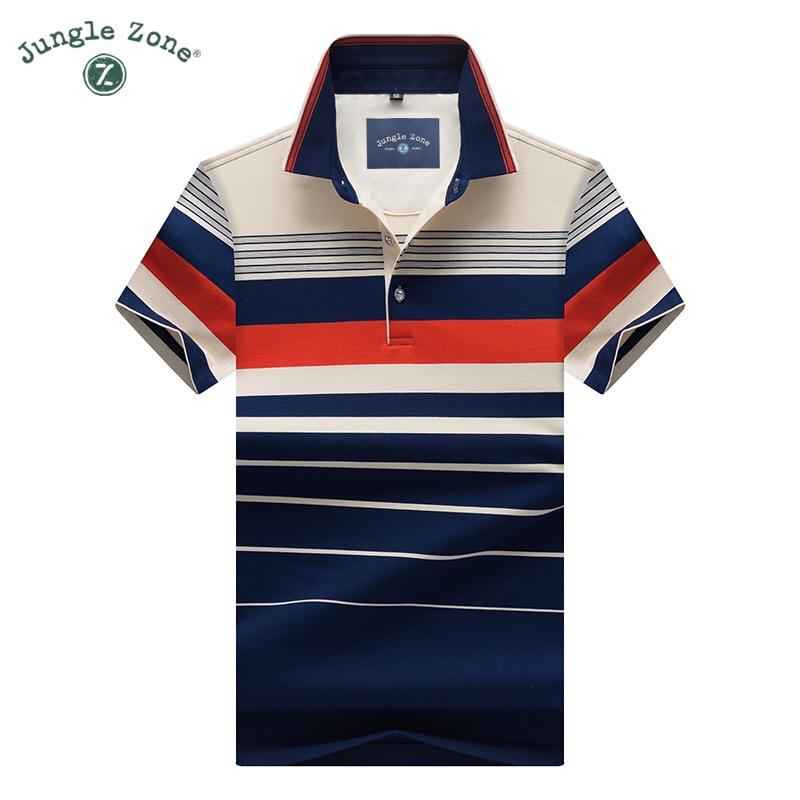 2017 High-quality 2017 High-quality Summer Short-sleeved POLO Business Men's Brand Polo Shirt Fashion Color Strip Polo Shirt8206
