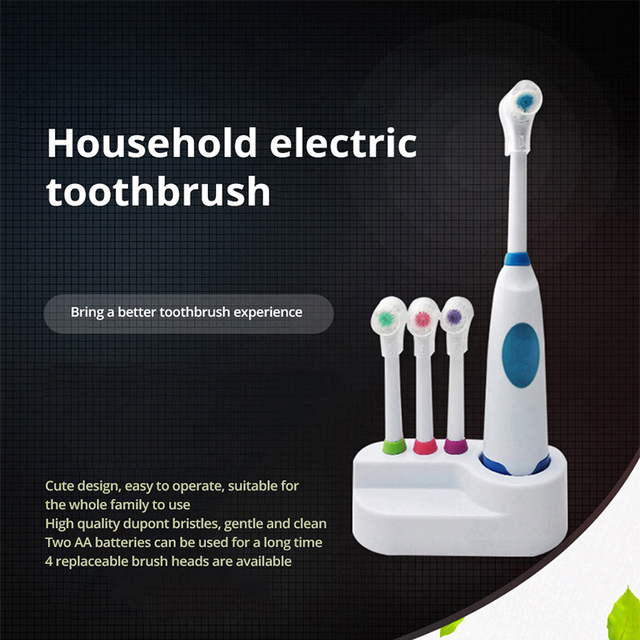 Electric Rotary toothbrush Adult Whitening soft Waterproof gums brush High quality Battery-operated electric toothbrush